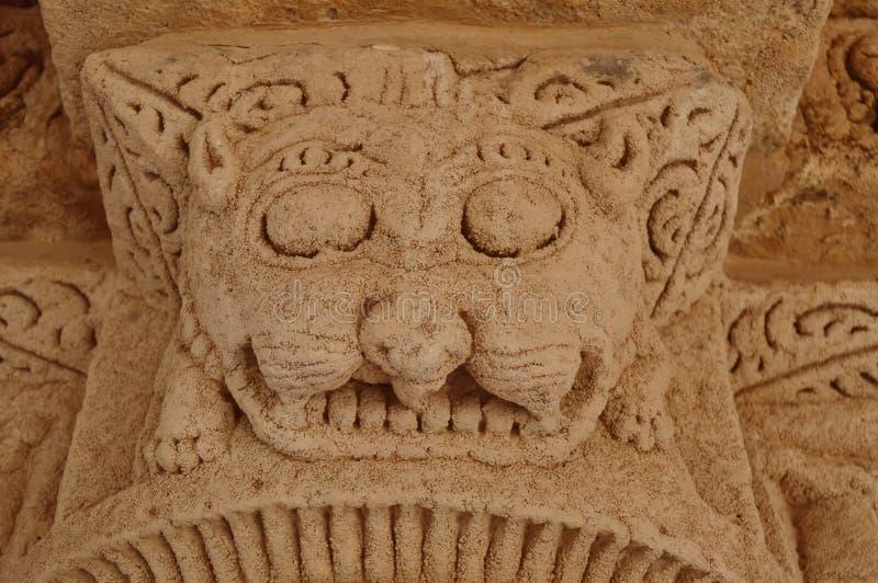 Cinzeladura de pedra no vav do ki dos ranis, patan, Gujarat imagem de stock royalty free