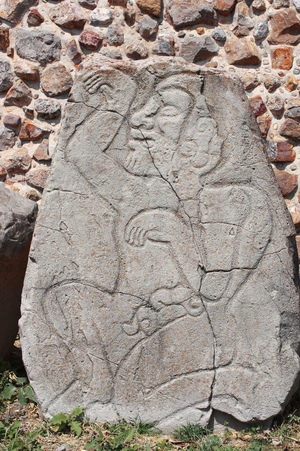 cinzeladura do Bas-relevo da imagem anatômica de um homem, México fotografia de stock