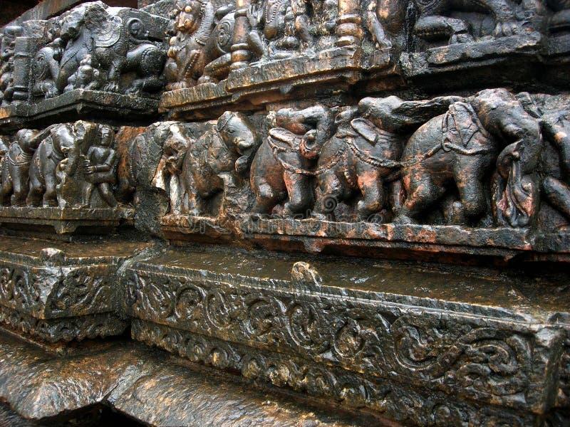 Cinzeladura do templo fotos de stock royalty free