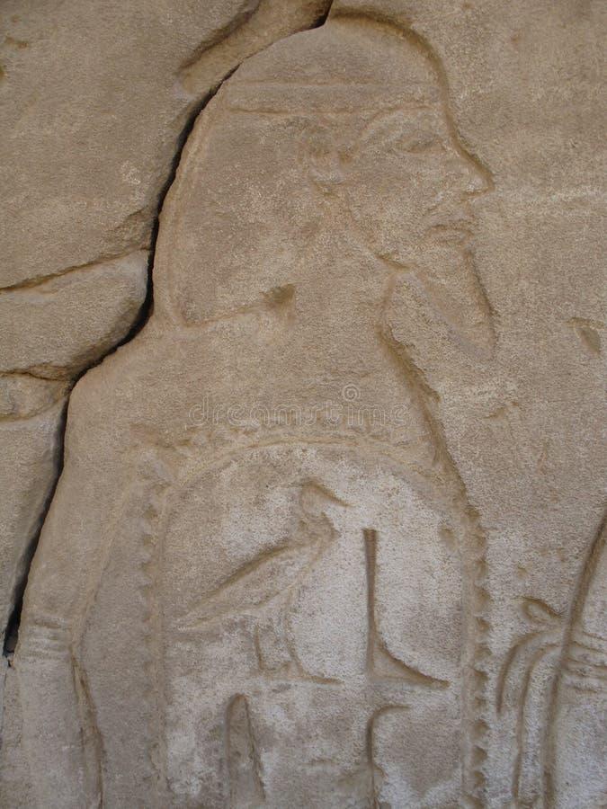 Cinzeladura Pharaonic da rocha fotos de stock