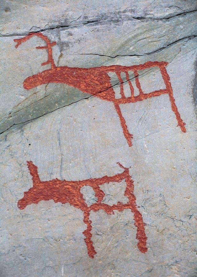Cinzeladura pré-histórica da rocha fotografia de stock royalty free