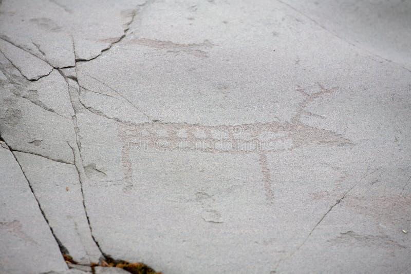Cinzeladura pré-histórica da rocha fotos de stock