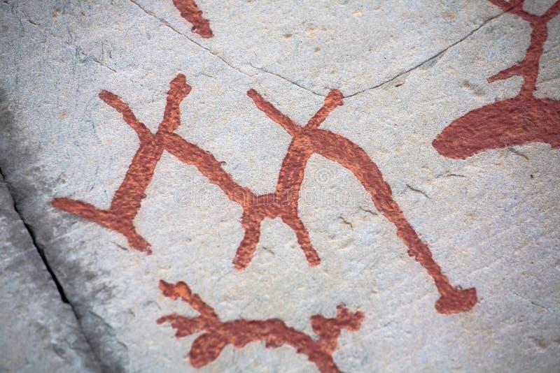 Cinzeladura pré-histórica da rocha fotografia de stock