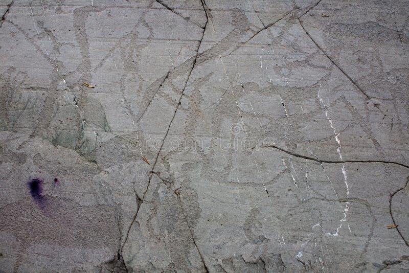 Cinzeladura pré-histórica da rocha imagens de stock