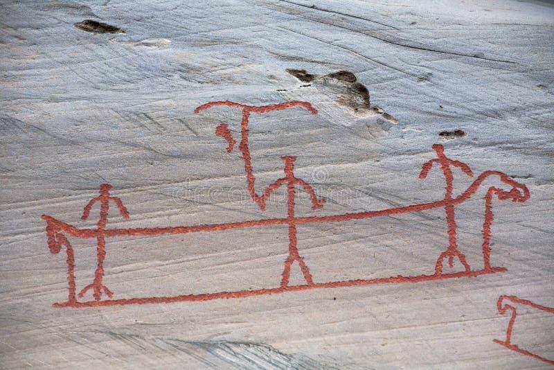 Cinzeladura pré-histórica da rocha imagens de stock royalty free