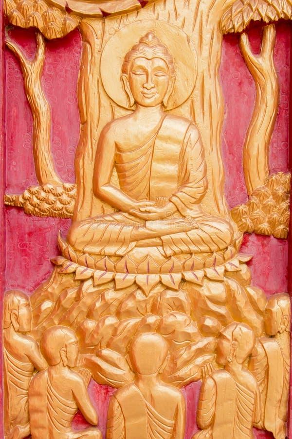 Cinzeladura tailandesa fotografia de stock