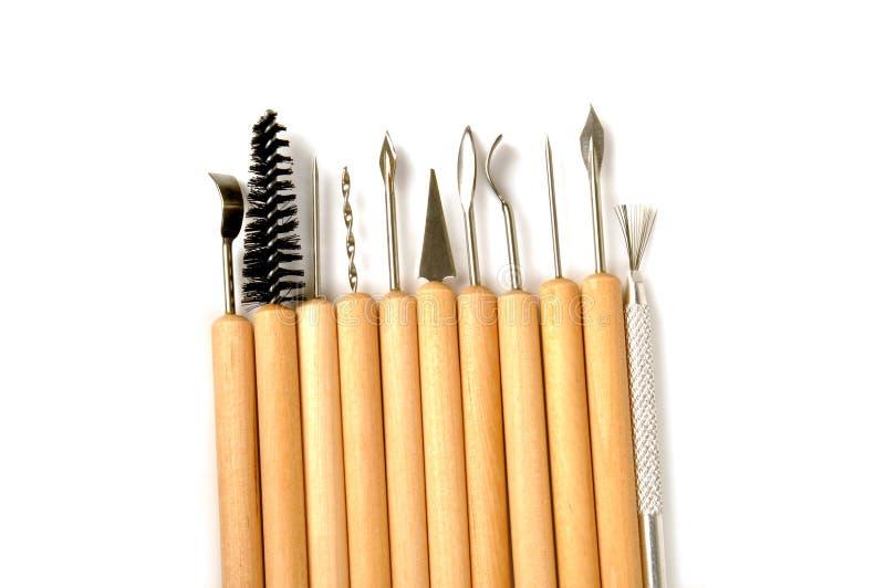 Cinzelando ferramentas imagens de stock