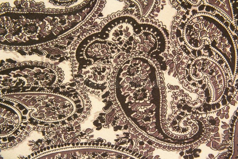 Cinzento e whitefabric com os ornamento florais do vintage imagem de stock royalty free