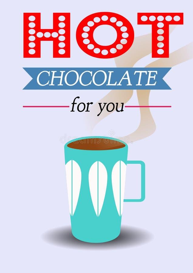 Cioccolata calda per voi illustrazione vettoriale