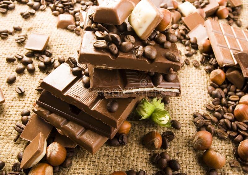 Cioccolato & caffè fotografie stock