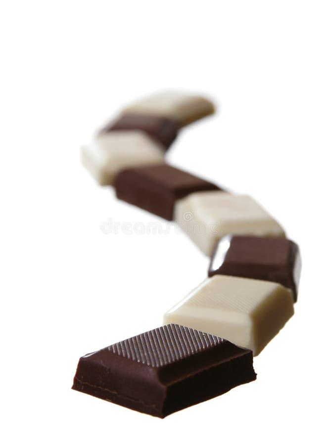 Cioccolato bianco e nero immagine stock
