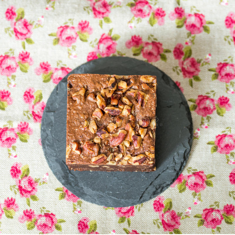Cioccolato Brownie Cake immagini stock