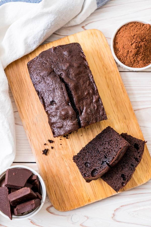 Cioccolato Brownie Cake fotografia stock libera da diritti