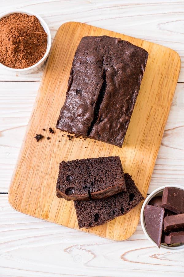 Cioccolato Brownie Cake fotografia stock
