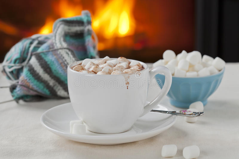 Cioccolato caldo fotografie stock libere da diritti