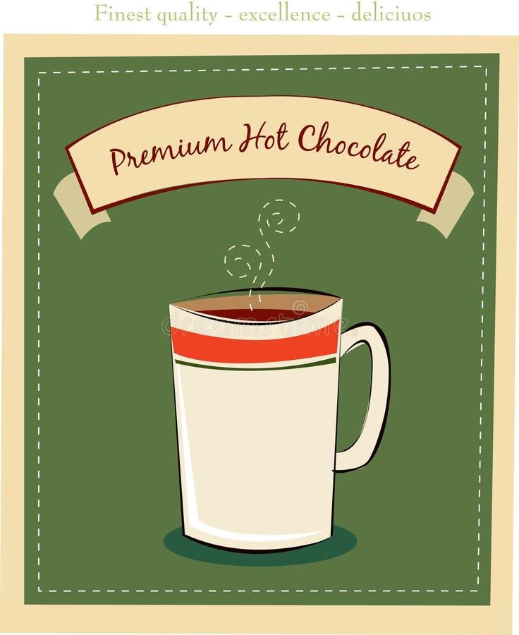 Cioccolato caldo illustrazione di stock
