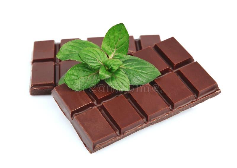 Cioccolato con la menta immagine stock