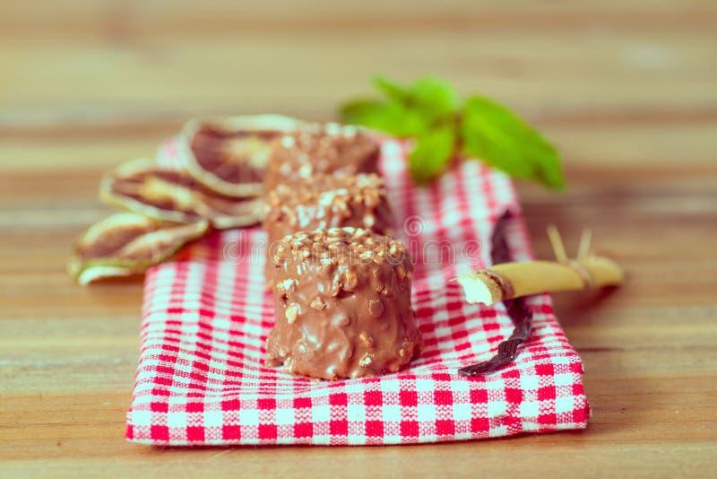 Cioccolato del primo piano fotografie stock libere da diritti