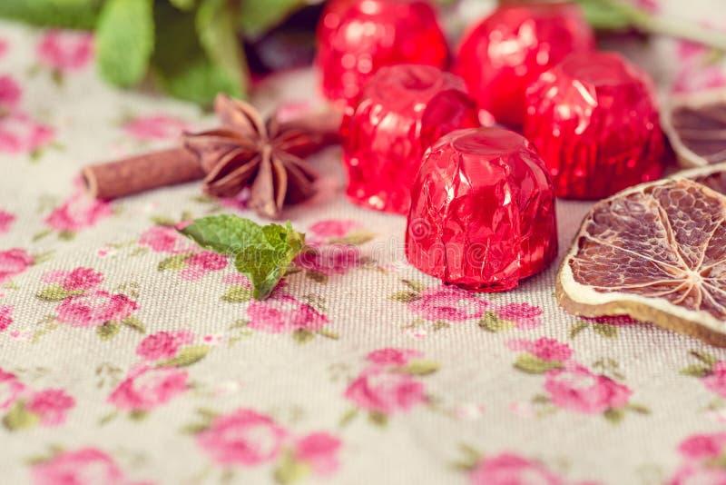 Cioccolato del primo piano fotografia stock