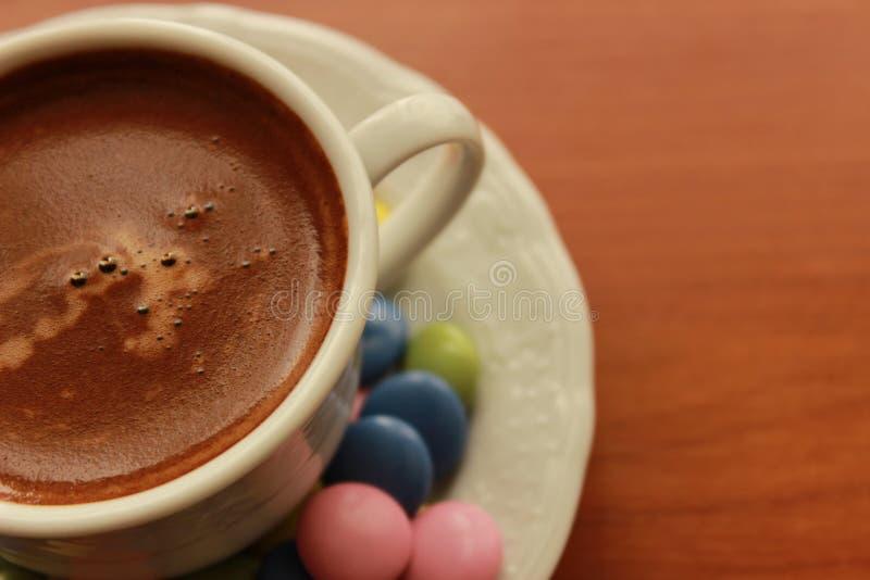 Cioccolato della caramella e del caffè turco fotografia stock