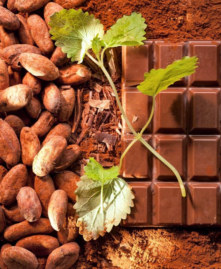 Cioccolato della menta fotografie stock