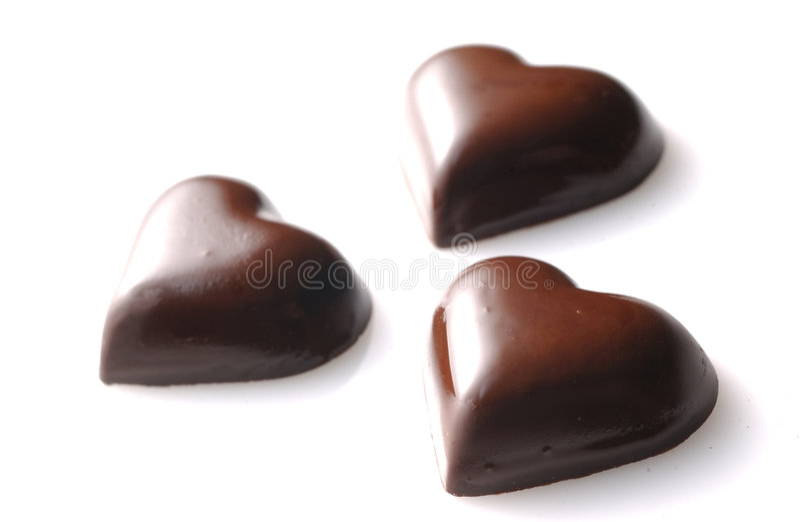 Cioccolato di figura di amore fotografia stock