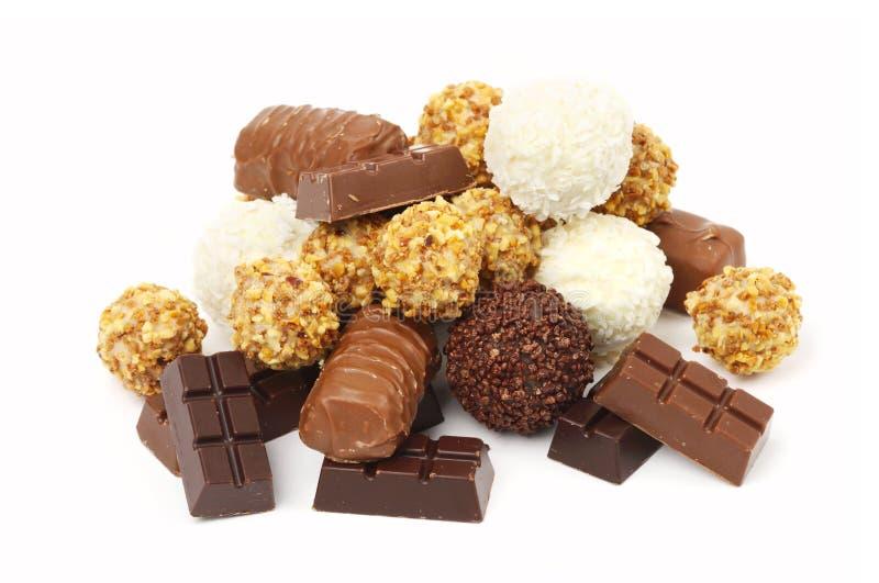 Cioccolato e dolci immagine stock