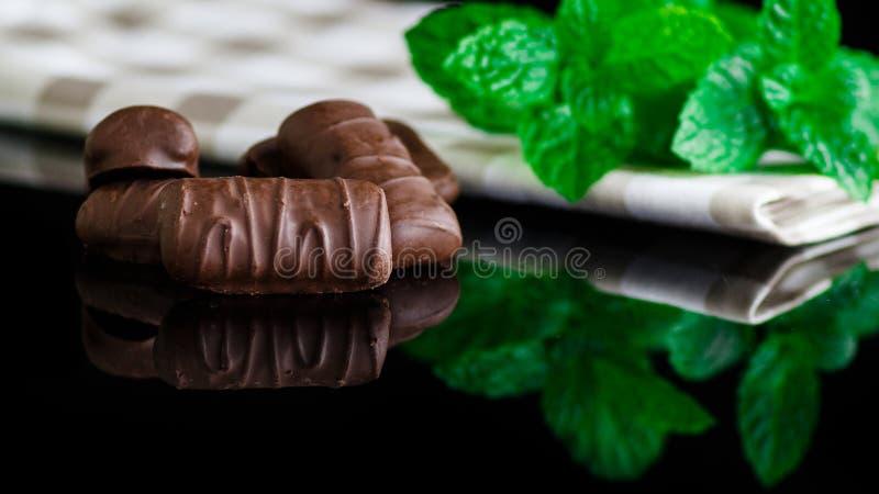 Cioccolato e menta immagine stock libera da diritti