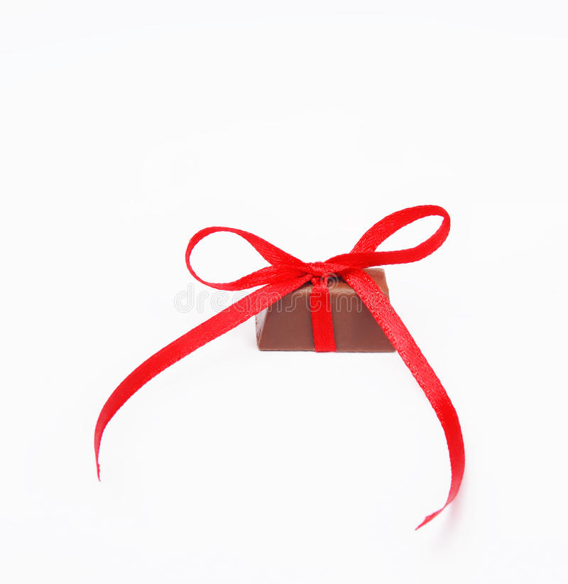 Cioccolato legato del nodo immagine stock libera da diritti