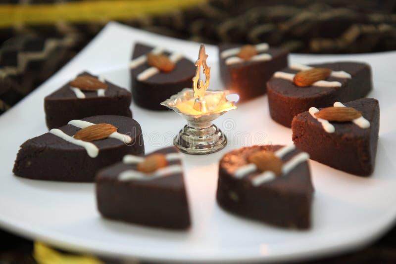 Cioccolato Sandesh, confetteria del bengalese del cioccolato immagine stock