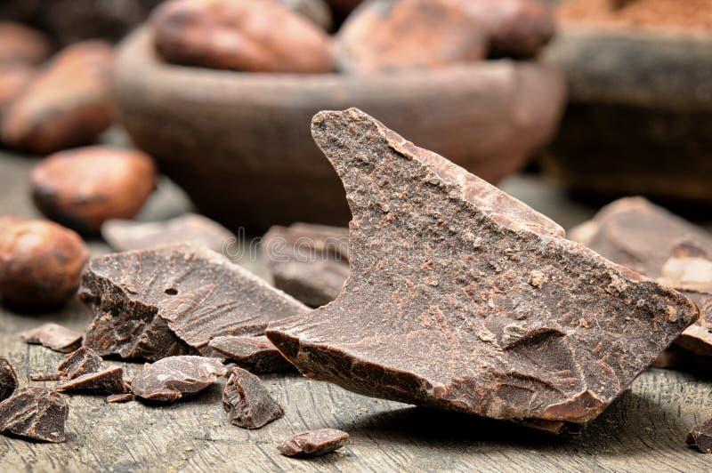 Cioccolato scuro schiacciato immagini stock libere da diritti