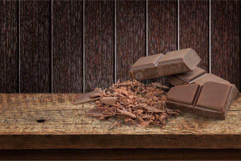 Cioccolato sulla tavola fotografia stock libera da diritti