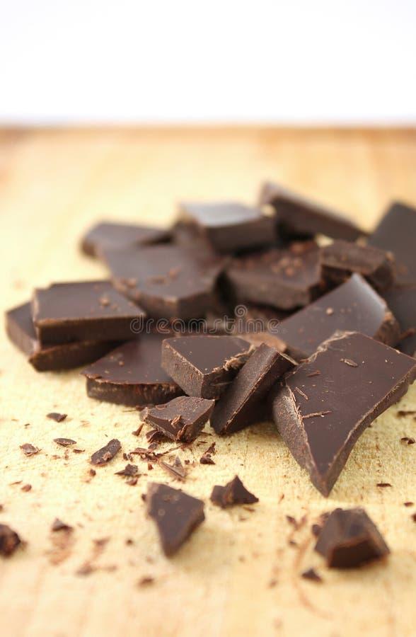 Cioccolato tagliato scuro immagine stock libera da diritti