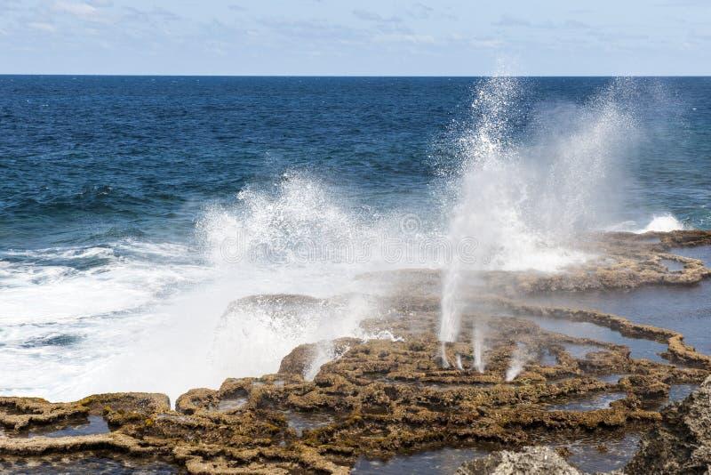 Cios dziury w Tonga, Południowy Pacyfik zdjęcia royalty free