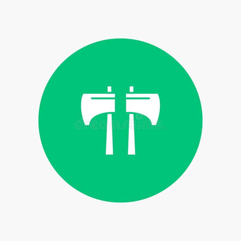 Cioska, kotlecik, Lumberjack, Narzędziowa biała glif ikona ilustracja wektor