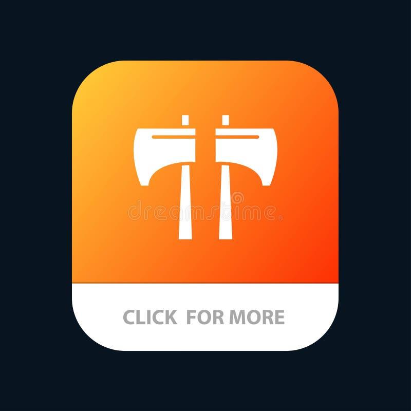 Cioska, kotlecik, Lumberjack, Narzędziowy Mobilny App ikony projekt royalty ilustracja