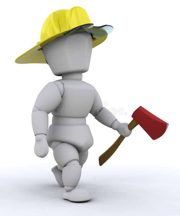 cioska strażak ilustracji