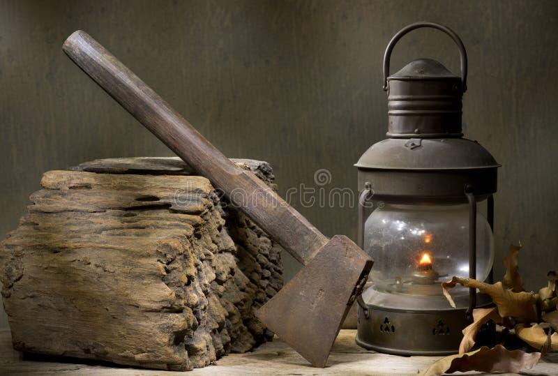Cioska z zaświecającym lampionem zdjęcie stock