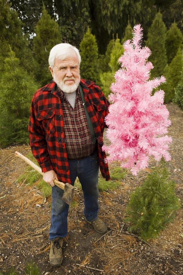 cioski bożych narodzeń lumberjack menchie zdjęcie stock
