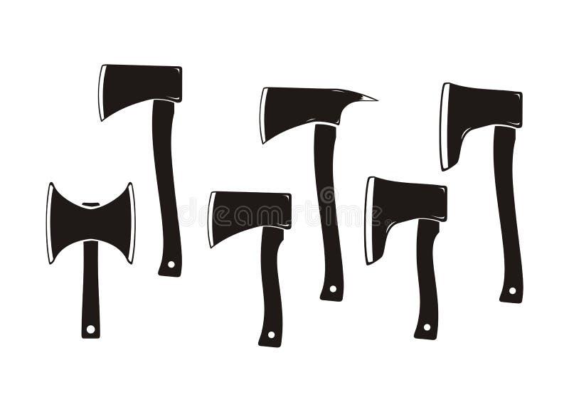 Cioski sylwetka - ciosk ikony ilustracja wektor