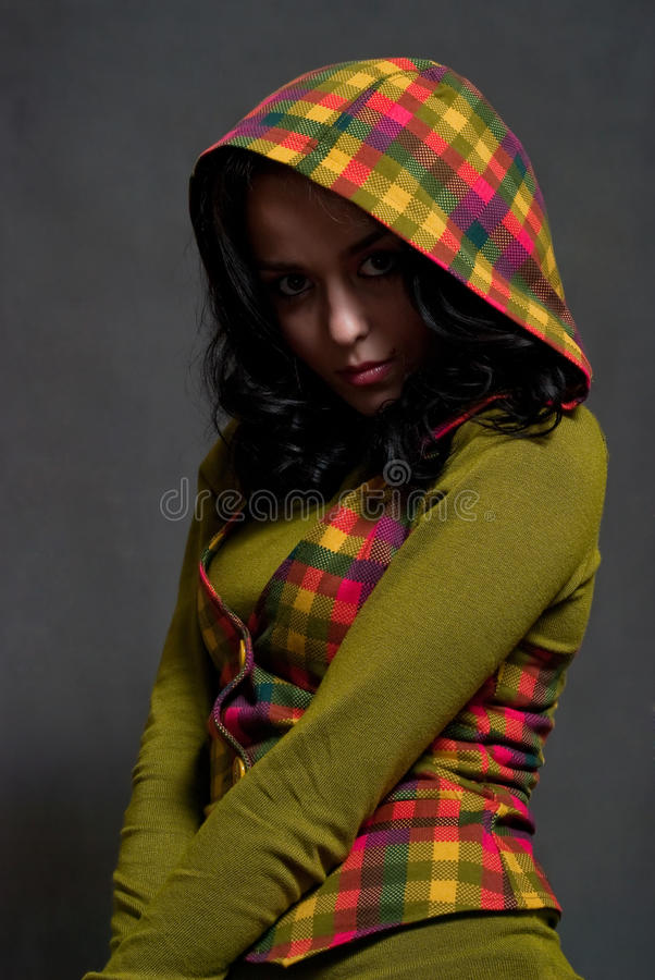 ciosowy dziewczyny waistcoat obrazy stock