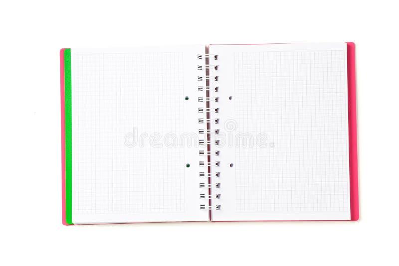 Ciosowy pusty notatnik odizolowywający obraz stock