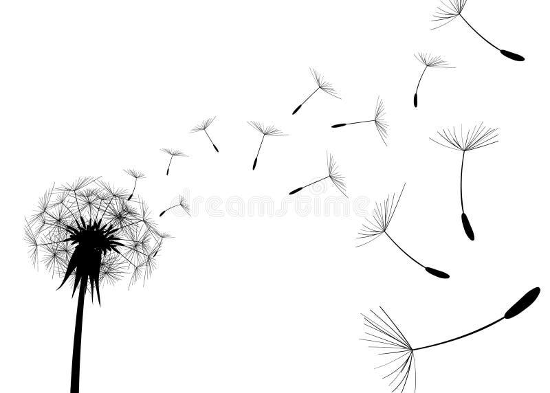 ciosu dandelion wektor royalty ilustracja