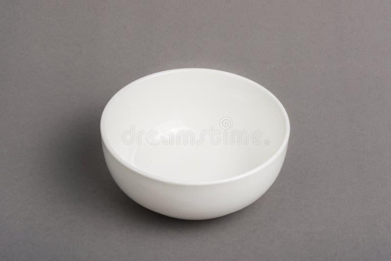 Ciotola bianca vuota fotografie stock