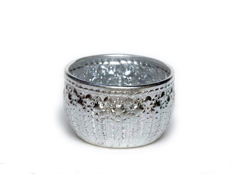 Ciotola d'argento dalla Tailandia immagini stock