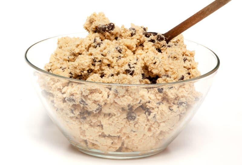 Ciotola della pasta del biscotto immagini stock libere da diritti