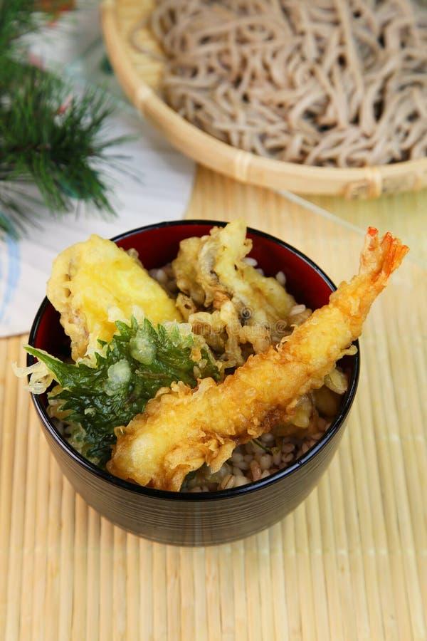 Ciotola della tempura immagini stock libere da diritti