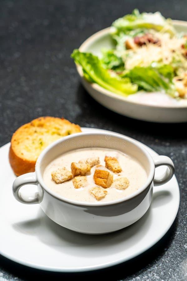 Ciotola della zuppa di fungo immagini stock libere da diritti