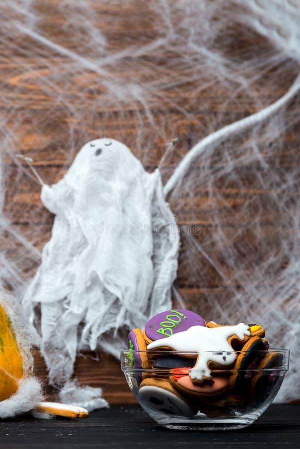 Ciotola di biscotti di Halloween immagini stock
