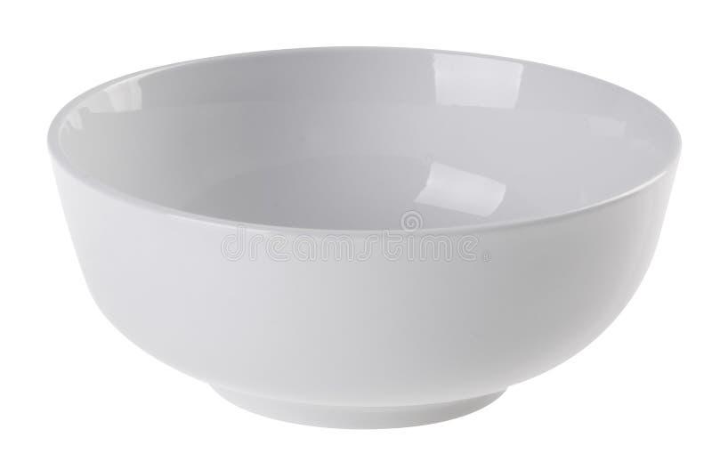 Ciotola di ceramica nel colore bianco fotografie stock